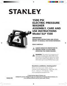 stanley slp1500 instruction manual